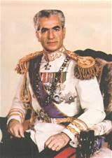 Shah seated photo