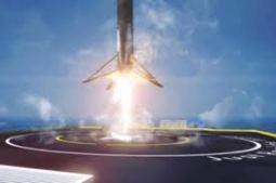Falcon 9 lands phoito