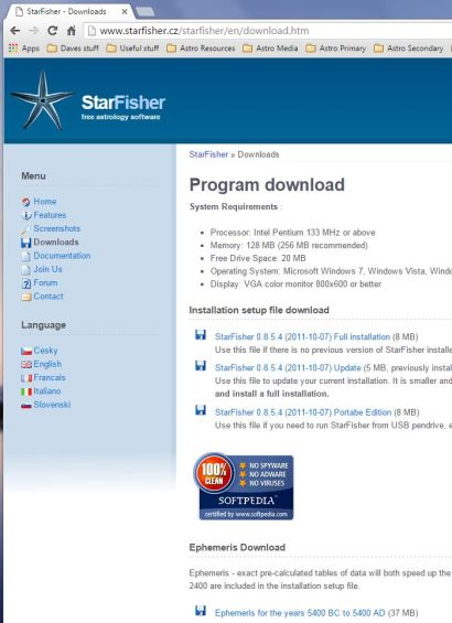 StarFisher Download Page