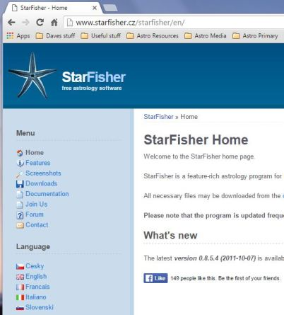 StarFisher Home Page